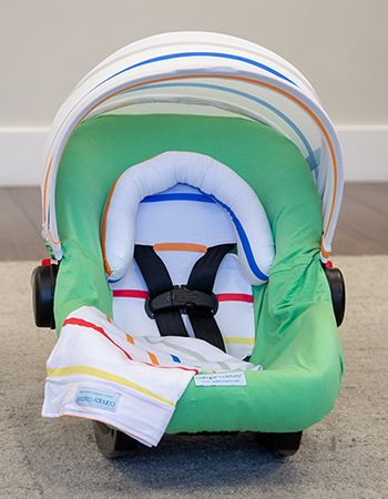 Lucas Jersey Stretch Whole Caboodle Car Seat Canopy Newborn Infant Baby Cover