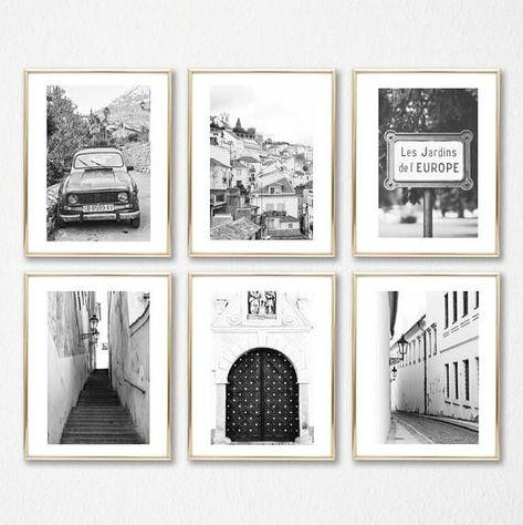 Coffret Art Déco Art Mural Noir Et Blanc Photographie Grand