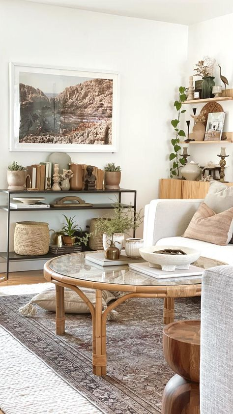 Living room transformed Kids Toys storage modern boho living room house tour earthy vibes clean up