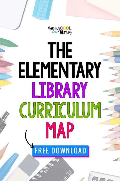 Elementary library curriculum map or scope and sequence for school librarians grades This is a broad overview of the different skills and lesson plans I have taught to my students over the years.It is broken down monthly by grade level. Elementary School Office, Elementary Library, Elementary Schools, School Classroom, Middle School, Library Lesson Plans, Library Skills, Library Lessons, Library Orientation