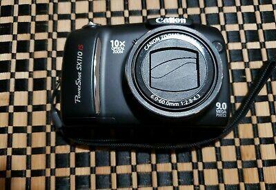 Black Canon Powershot Sx110 Is 9 0mp Digital Camera 10x Instant Digital Camera Digital Camera Outdoor Camera