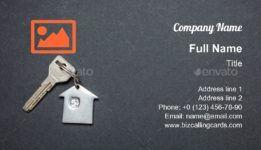 House Key On Black Business Card Template Black Business Card Business Card Template Download Business Card