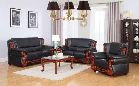 Bella Rich Cherry Black Brown Burgundy Bonded Leather Living