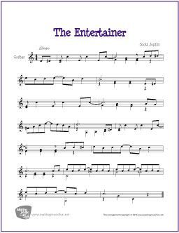 The Entertainer Joplin With Images Sheet Music Guitar Sheet