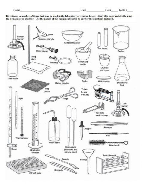 12 Science Equipment Worksheet Science Laboratorios De