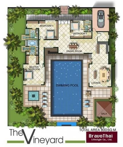 22 Ideas For House Plans With Pool Courtyards Pool House Plans Courtyard House Plans U Shaped House Plans