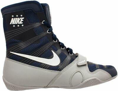 origen arma Aterrador  Nike HyperKO LE Boxing Boots Professional Boxing Shoes Boxschuhe Navy/Grey  | Boxing shoes, Boxing boots, Nike