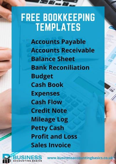 Free Free Excel Bookkeeping Templates | 16 Accounts Spreadsheets