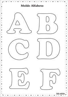 Letras de tecido e feltro pap e modelos de letras worksheets alphabet letters templates to print spiritdancerdesigns Images