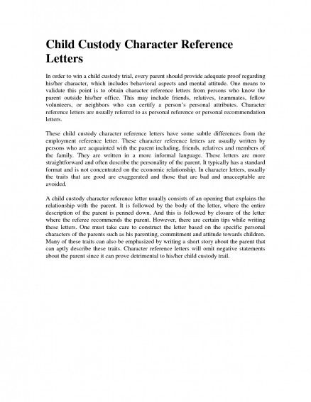 Sample Letter Of Character Reference For Child Custody from i.pinimg.com