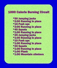 1000 Kalorien verbrennen