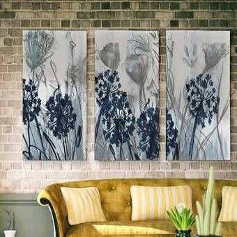 House Of Hampton Blooming Poppies Multi Piece Image On Wrapped Canvas Reviews Wayfair In 2020 Oversized Wall Art Large Canvas Painting Canvas Wall Art
