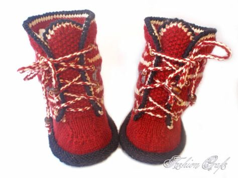 Booties Uggs Knitted Slavic Motifsbooties Knittedugg Boots