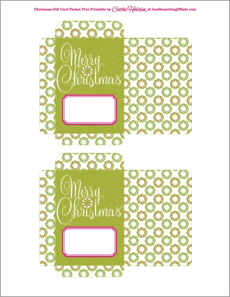 Super sweet gift tags! These are actually free printable see - christmas gift card templates free