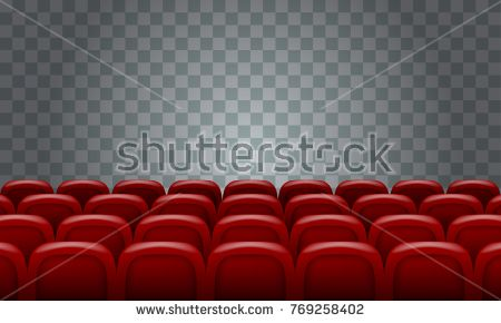 Realistic Rows Of Red Cinema Movie Theater Seats On Transparent Background Cinema Movie Theater Cinema Movies Movie Theatre Seats