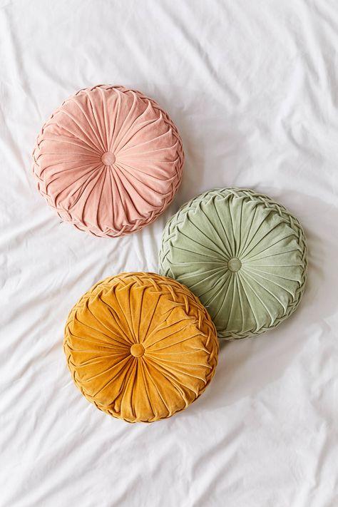 Round Pintuck Pillow In 2020 Throw Pillows Pillows Floor Pillows