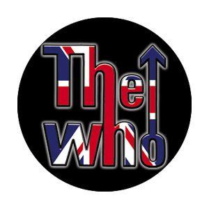 THE WHO FLAG LOGO BUTTON