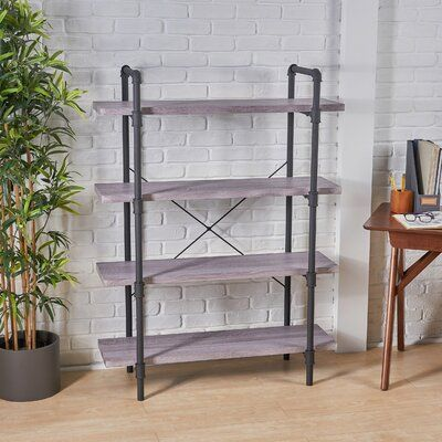 Williston Forge Anders Faux Wood 4 Tier Etagere Bookcase Etagere
