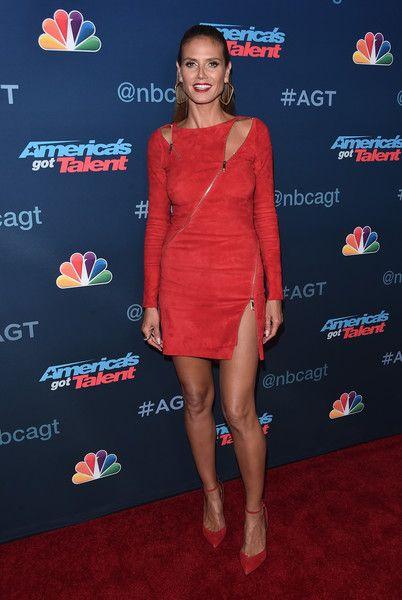 TV pesonality Heidi Klum attends the 'America's Got Talent' Season 11 Live Show in Hollywood.