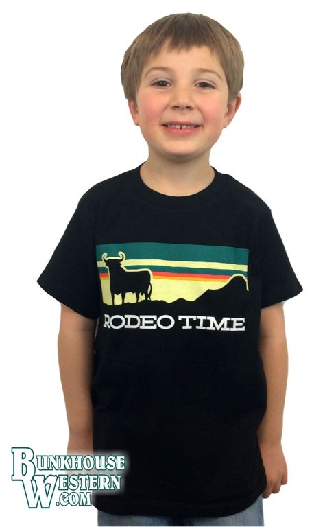 Dale Brisby, Black, Youth, Rodeo Time, Tee Shirt, Kids Sizes