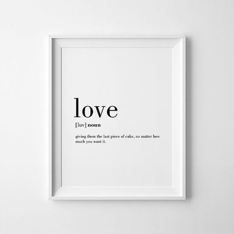 Love Funny Definition Print, Printable Poster, Wall Art, INSTANT DOWNLOAD…