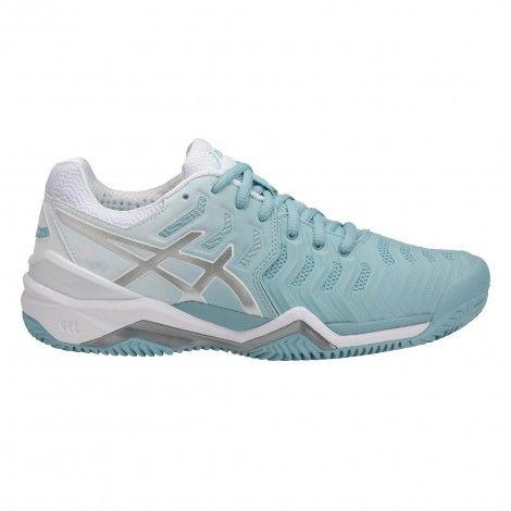 ASICS Gel-Resolution 7 Clay tennisschoenen dames porcelain ...