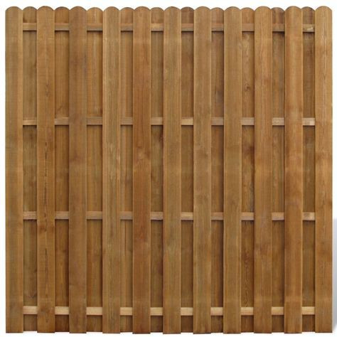 Vertical Wooden Hit Miss Fence Panel