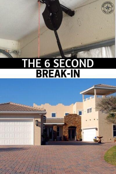 Preventing Garage Door Break Ins The 6 Second Break In Broken Garage Door Home Security Home Security Systems