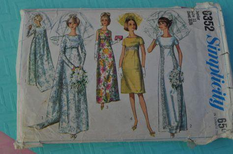 Simplicity 6352 Vintage Bridal Pattern by GrannySmithsPlace