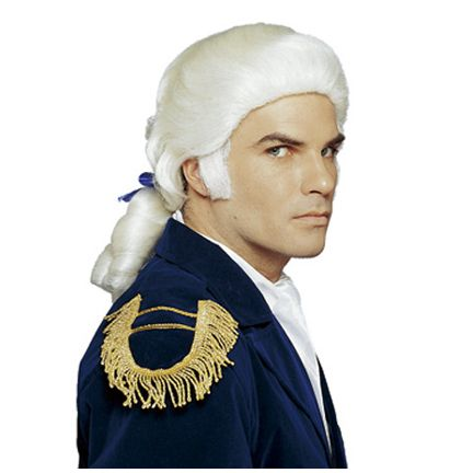 American traditional object: powdered wig