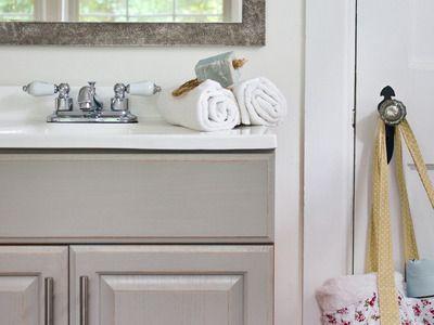 Simple Hot Chocolate Three Ways Painted Vanity Bathroom