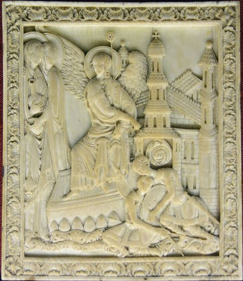 "32/"" x 27/"" 42/"" Saint George and the Dragon 3D Art Orthodox Wood Carved Icon"