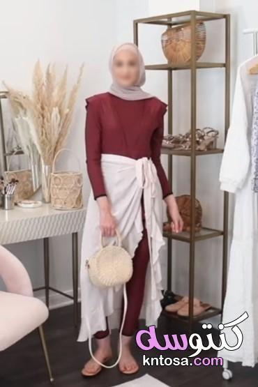 بالصور أفكار لتنسيق الكاش مايوه مع ملابس السباحة للمحجبات 2020 Kntosa Com 31 19 156 Maxi Skirt Fashion Skirts