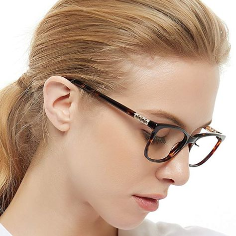 353388a1c68 OCCI CHIARI Shining Fashion Acetate Optical Frame Non-Prescription Clear  Eyeglasses 50-17-135 Review