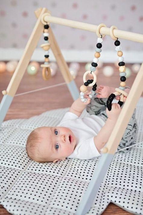 Baby Gym Toys Monochrome Gym Toys Scandi Nursery Decor | Etsy