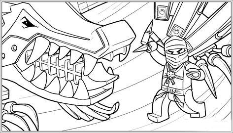 ausmalbilder ninjago drache
