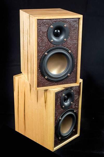 Hardwood Bookshelf Speakers Awesome Speakers For Your Man Cave Bookshelf Speakers Diy Diy Speakers Cool Bookshelves