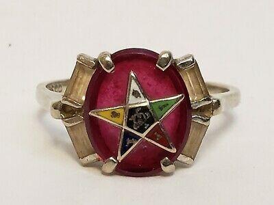 Ad Ebay Url Vintage Psco Order Of The Eastern Star 10k White Gold Ruby Enamel Ring Sz 9 25 Fashion