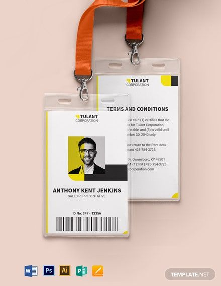 Manager Id Card Template Free Pdf Word Psd Apple Pages Illustrator Publisher Identity Card Design Id Card Template Employees Card