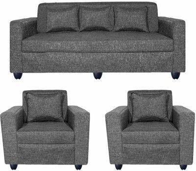 Bharat Lifestyle Lexus Fabric 3 1 1 Dark Grey Sofa Set Configuration Straight Buy Sofa Furniture Online Furniture