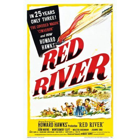 Red River Us Canvas Art 11 X 17 Red River Movie John Wayne Montgomery Clift