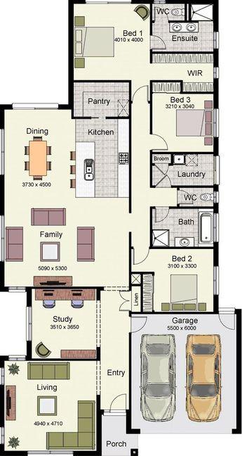 3 Bedrooms House Design Floor Plan Bungalow Floor Plans Floor Plan Design Modular Home Plans