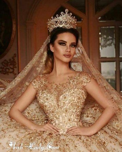 فساتين زفاف ذهبية لجرأة وجمال لا يقاوم مجلة المرأة العربية Fitted Wedding Dress Gold Wedding Dress Short Wedding Dress
