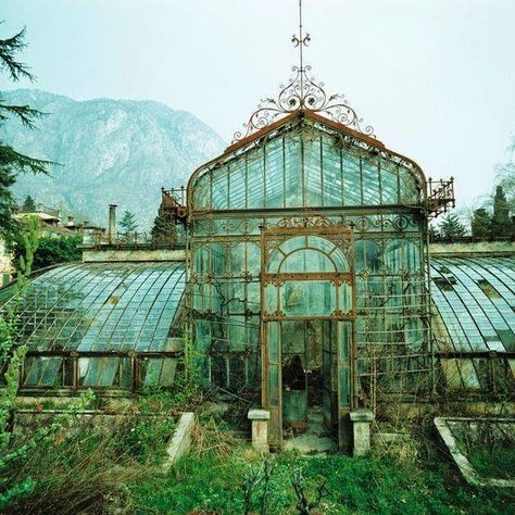 Abandoned Victorian Style Greenhouse, Villa Maria, in northern Italy near Lake Como. Photo : Friedhelm Thomas : Abandoned Victorian Style Greenhouse, Villa Maria, in northern Italy near Lake Como. Poster Architecture, Perspective Architecture, Texture Architecture, Architecture Design Concept, Plans Architecture, Victorian Architecture, Victorian Buildings, Classical Architecture, Residential Architecture