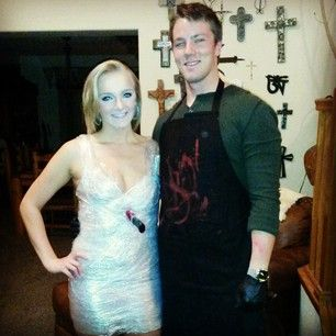 Dexter and one of his many victims. | 50 Couple Costume Ideas To Steal This Halloween