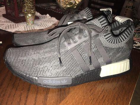 Adidas NMD R1 Mens 11 Black Grey Glitch