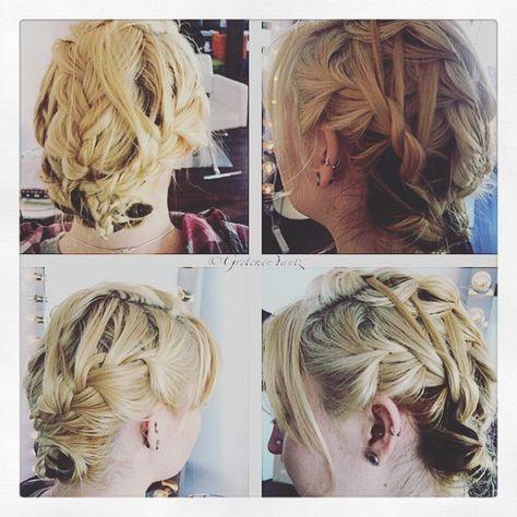 Vikings inspired updo I did on myself 😏 #vikinghair #vikings #braids #blonde #babydreads #velvetsalon #harmony #hairdresserlife
