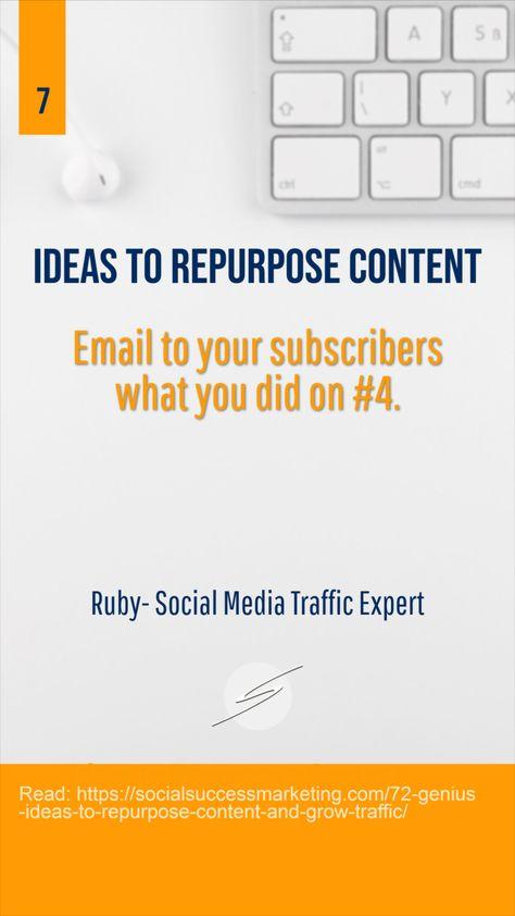 Ideas to Repurpose Content