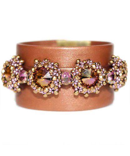 Juwelina Damen Armband Nappa Leder in Metallic Bronze Swarovski Kristalle in Lilac Shadow 20cm Juwelina http://www.amazon.de/dp/B00J8L0PCU/ref=cm_sw_r_pi_dp_YlWjub1XDBY9T
