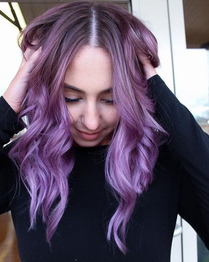 The Switcheroo Blonde To Purple Hair Color Formulas Dyed